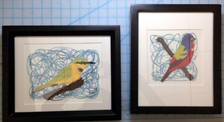 091113-framed-littlebeeeater-paintedbunting