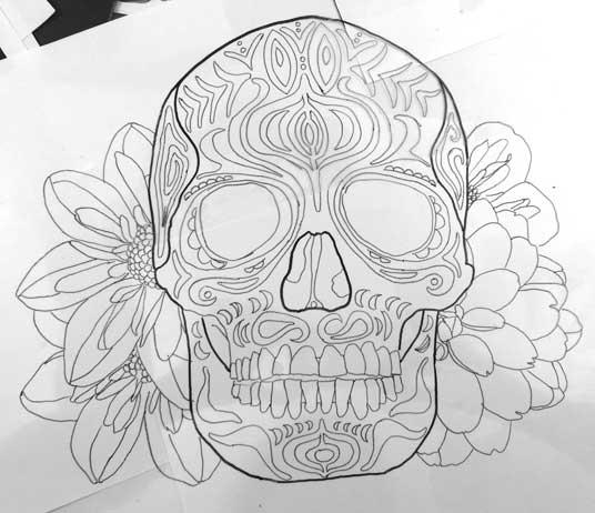 102115 2015 Sugar Skull Drawing Sagworks Art Everyday